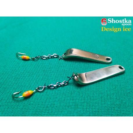 Зимняя блесна ручной работы - Design Ice - Shostka Spoon